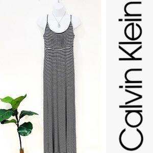 [Calvin Klein] Striped Maxi Dress